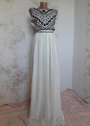 Вечернее платье в пол с открытой спинкой asos