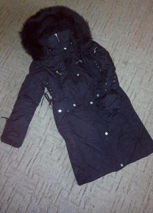 Пальто пуховик на 10-12 лет