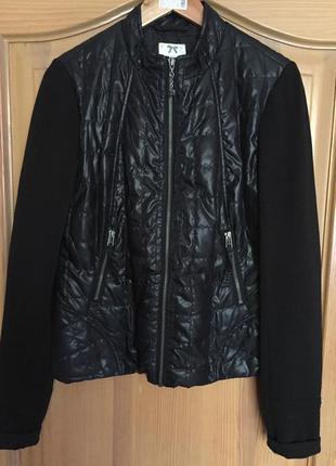 Комбінований курточка-бомбер фірми dept на сінтепоні, розмір л
