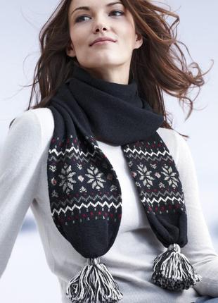 Шикарный шарф в скандинавском стиле от tchibo (германия) 30% шерсти
