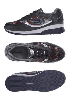 Skechers. стелька 25/25.5см. кожаные кроссовки, туфли, сникерсы. оригинал. демисезон.