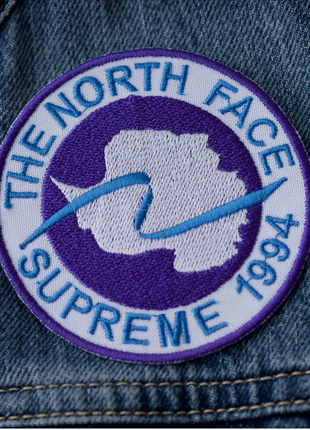 Supreme the north face патч шеврон нашивка
