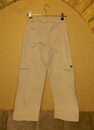 Штаны джинсы бежевые на мальчика подростка ding dong2