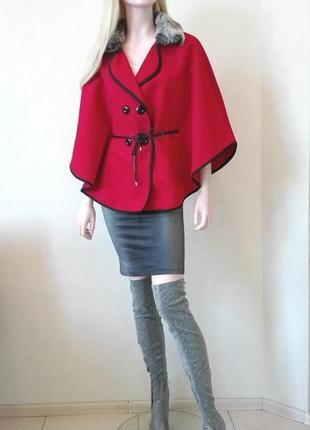Итальянское пальто пелерина