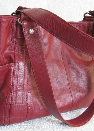 Debenhams сумка кожаная 32х22х14 длинные ручки через плечо натуральная кожа