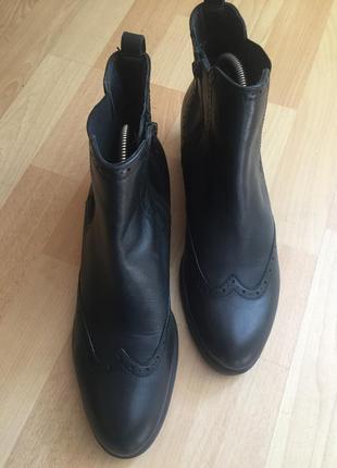 Кожаные сапоги ботинки salamander
