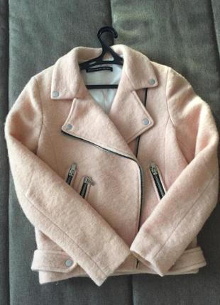 Куртка/пальто шерсть/косуха stradivarius