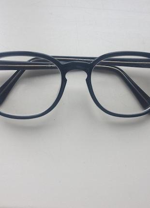 Имиджевые прозрачные очки черная квадратная оправа по типу ray ban квадрат