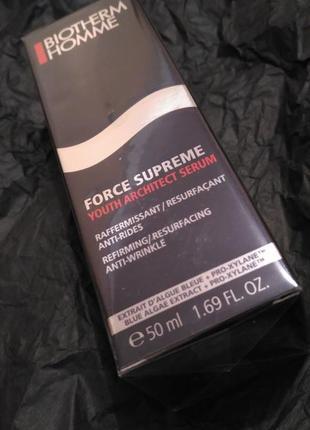 Сыворотка для лица мужская biotherm homme force supreme youth architect serum
