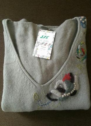 Уютный свитер stefanel шерсть ламы