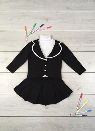 Школьная форма пиджак+юбка, двухнитка р.32 на рост 104-110 см тм лули1