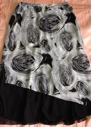 Красивый нарядный костюм двойка на женщину, блуза и юбка, батал большой р-р 46 48 502