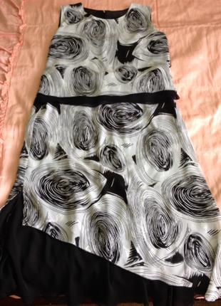Красивый нарядный костюм двойка на женщину, блуза и юбка, батал большой р-р 46 48 50