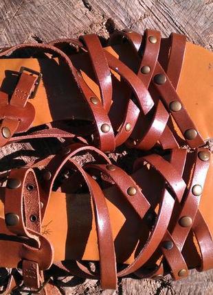 Кожаные босоножки, гладиаторы sable chaud 37р