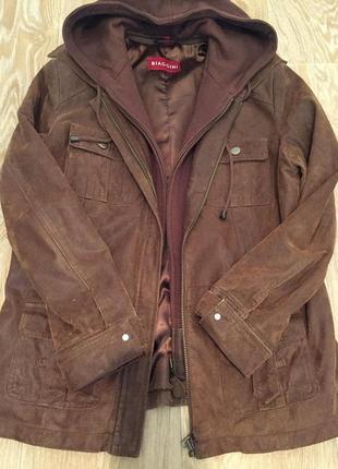 Курточка 38 р. натуральная замша