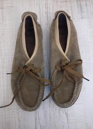 Туфли кеды мокасины замшевые