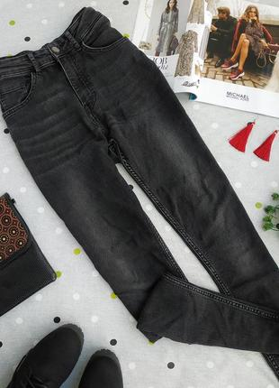 Актуальные черные джинсы скинни на высокой посадке h&m р. 38/м
