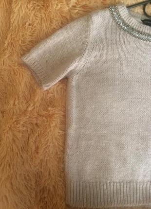 Пудровый мягенький свитер от dorothy perkins