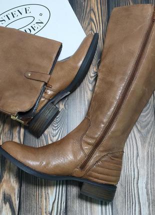 Steve madden оригинал сапоги кожаные демисезон осень рыжие бренд из сша
