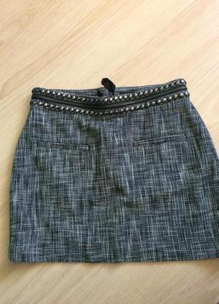 Стильная юбка  пот 39 см ,длина 39.5 см