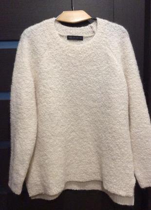 Шикарный свитер букле с шерстью альпака