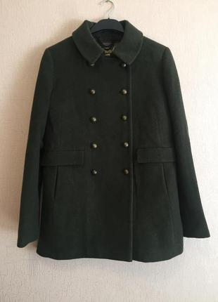 Пальто шерстяное в стиле милитари superdry