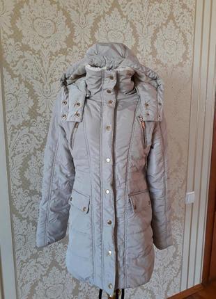 Осень-зима удленённая куртка пальто с капюшоном и карманаии