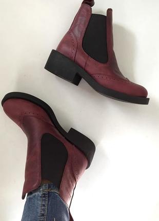 Натуральные кожаные ботинки броги рр 36-40