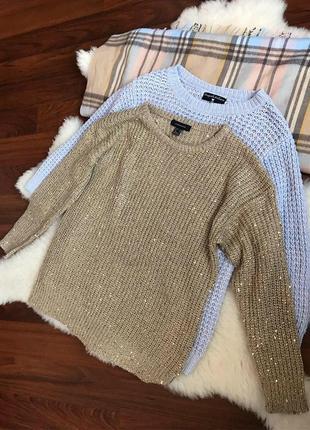 Шикарная кофта с золотой нитью , свитер