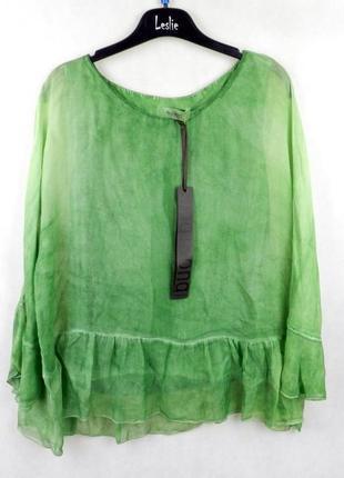 Легкая блуза с рукавом 3/4 и воланами king kong (новая)