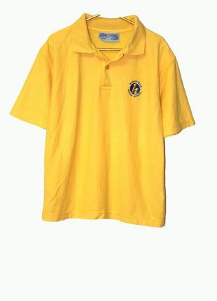 Крутая желтая футболка поло на 11-12 лет