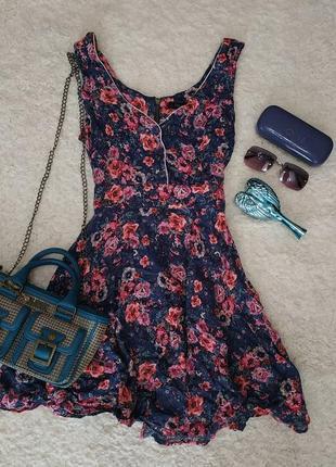 Винтажное платье в цветочек forever 21