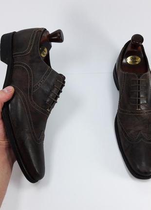 Loake made in england мужские кожаные туфли броги оксфорды черного