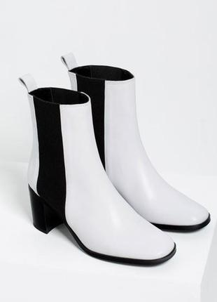 Супер тренд 2018 белые ботинки zara кожа