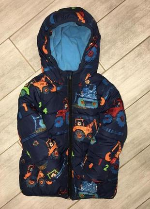 Классная, яркая, тёплая, демисезонная курточка george 1.5-2 года