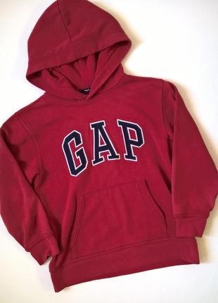 Шикарная теплая толстовка gap(с начесом), худи с капюшоном, на  8-9 лет