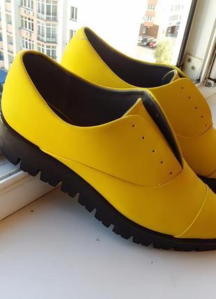 Дизайнерские остроносые туфли криперы 36-37 размер
