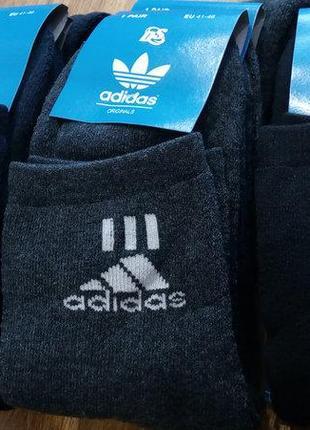 """Носки мужские махровые """"adidas"""" турция 41-44/цена за 12 пар"""
