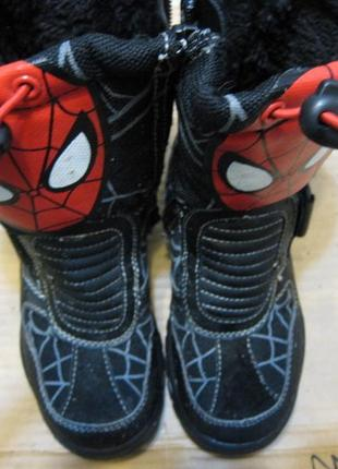 Сапоги ботинки spider man спайдер мен детские на цегейке 24размер 15см стелька