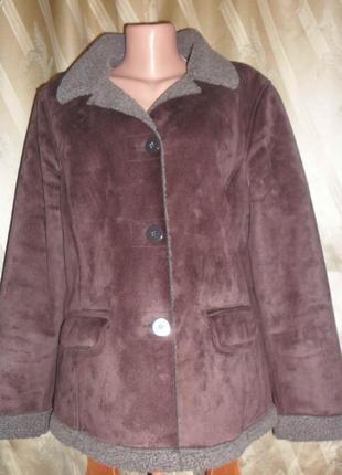 Куртка дубленка замшевая осень-еврозима - 50 украинский размер
