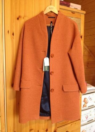 Роскошное пальто оверсайз krisstel 100% шерсть
