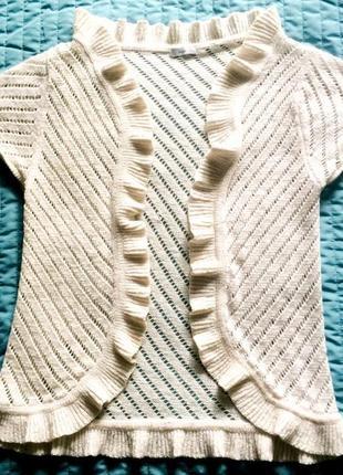 Ажурная белая блузка