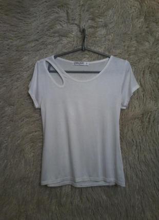 Белая футболка gloria jeans