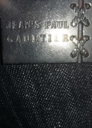 Джинсы gaultier темно-серые с металлизированной ниткой 26 новые с биркой