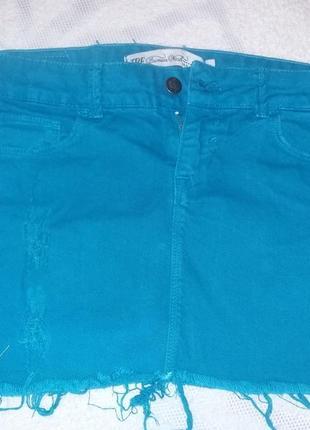 Продам джинсовую юбку бренда zara