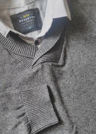 Стильный офисный свитер-обманка
