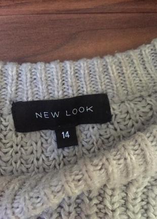 Вязаный свитер, свитеp new look, серый свитер