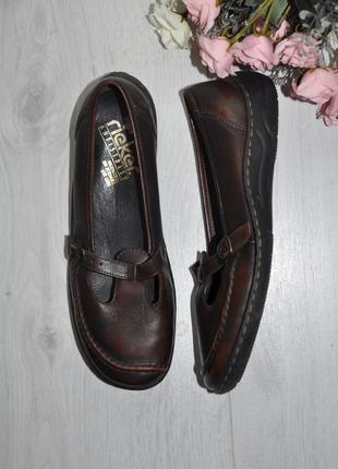 Туфли rieker 40р 26см кожа идеал