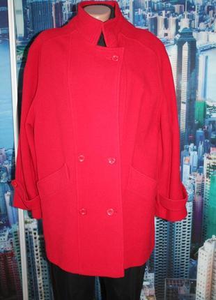 Пальто шерсть оверсайз 14-16 размер