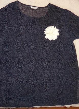 Шикарная блуза в мелкий  горох